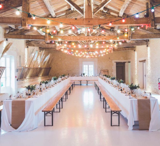 Furniture Rental for indoor Ceremony